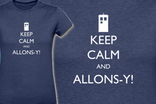 Keep Calm and Allons-Y! Doctor Who T-Shirt