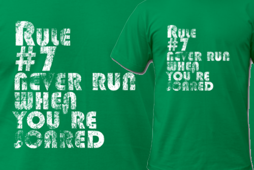 Rule 7: Never Run When You're Scared - Doctor Who t-shirt