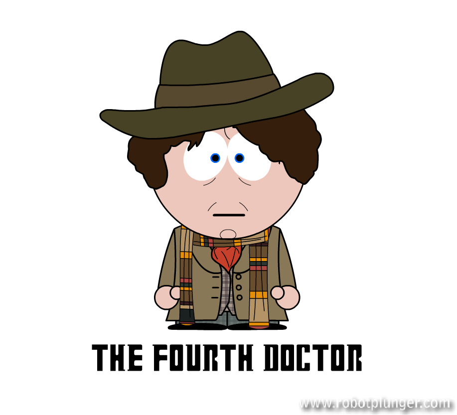 the fourth doctor - south park (Tom Baker) - Doctor Who