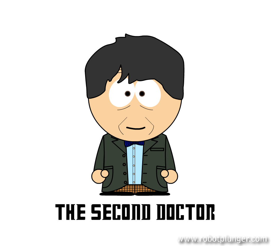 the second doctor - south park (Patrick Troughton) - Doctor Who