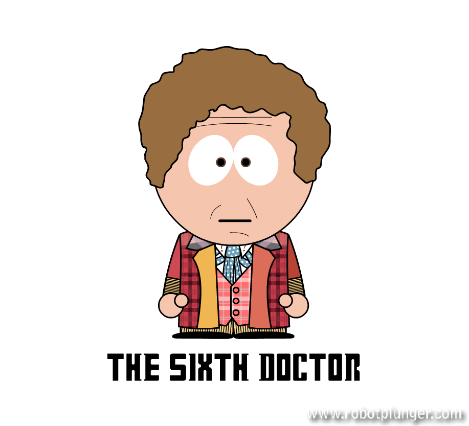the sixth doctor - south park (Colin Baker) - Doctor Who