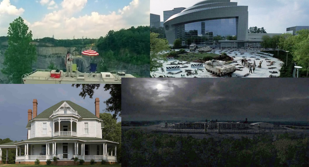 Atlanta Camp, CDC, Hershel's farm, The Prison