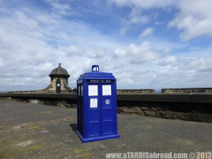 TARDIS edinburgh castle scottland UK