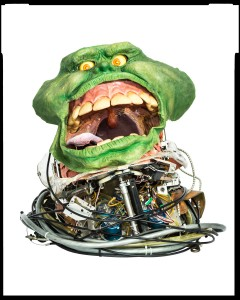 Prototype anamatronic head/performance helmet for Slimer from Ghostbusters II